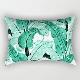 jungle leaf pattern mint Rectangular Pillow