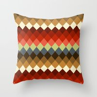 spice Throw Pillows featuring Spice by Moki