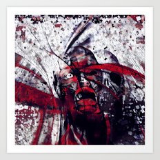 Virus rouge Art Print