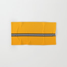 NY Taxi Cab Yellow with Black and White Check Band Hand & Bath Towel