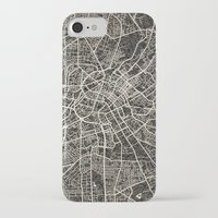 manchester iPhone & iPod Cases featuring manchester map ink lines by NJ-Illustrations