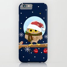 Owl's Christmas in a snowy world Slim Case iPhone 6s