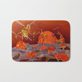 Surreal Hornets Bath Mat