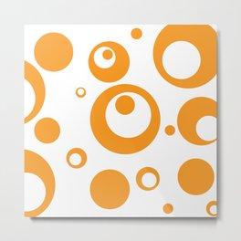 Circles Dots Bubbles :: Marmalade Inverse Metal Print
