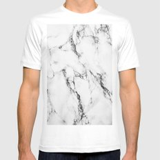 Marble #texture Mens Fitted Tee MEDIUM White