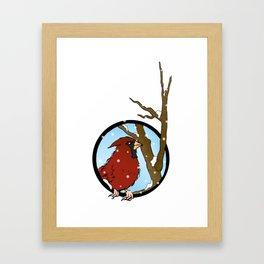 Red In Winter Framed Art Print