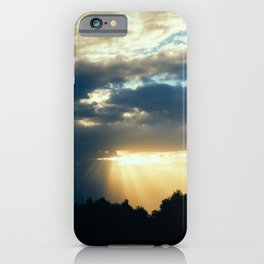 Sunset Through Clouds iPhone Case