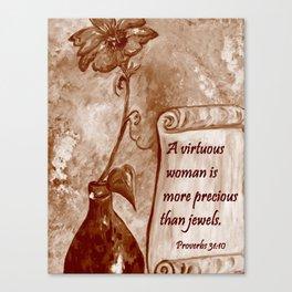 A Virtuous Woman Canvas Print