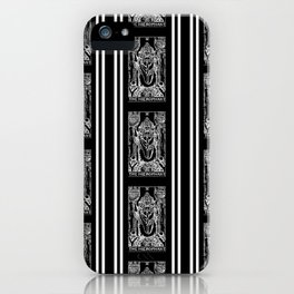 Black and White Tarot Print - The Hierophant iPhone Case