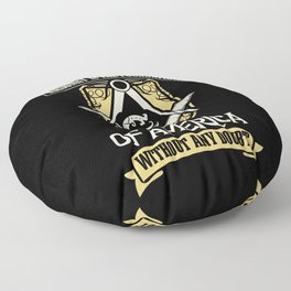 Masons Are The Foundation Of America Floor Pillow