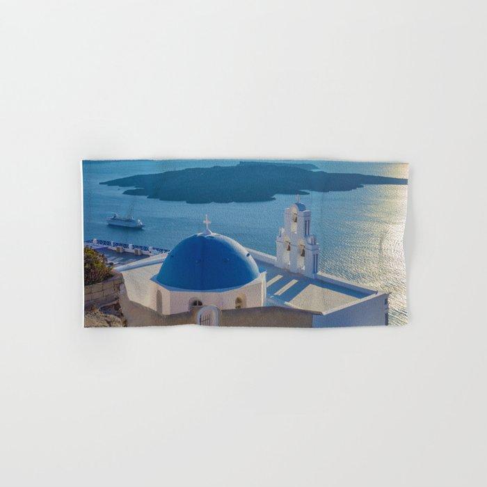 Santorini Island, Greece Hand & Bath Towel