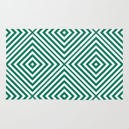 Emerald Elegant Diamond Chevron Rug