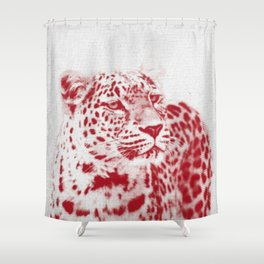 Leopard 01 Shower Curtain