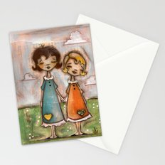 A Childhood Shared - Sister Art Stationery Cards