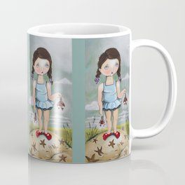 Suzie Saves Starfish by the Seashore Coffee Mug