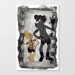 Волк и Заяц (рамка) Canvas Print