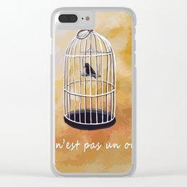 ceci n'est pas un oiseau Clear iPhone Case