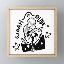 Woah Dude Framed Mini Art Print