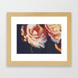 ORANGE FEELINGS Framed Art Print