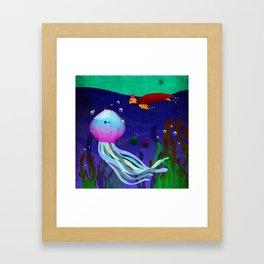 Mr. Jellyfish Framed Art Print