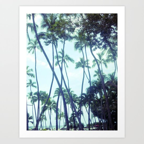 In the trees Art Print