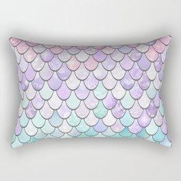Girls Cute Mermaid Pattern, Pink, Purple, Teal Rectangular Pillow
