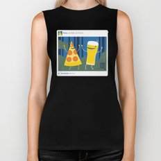 everybody likes pizza and beer Biker Tank