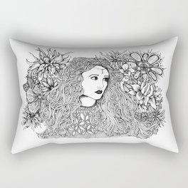 Lady Moon Rectangular Pillow