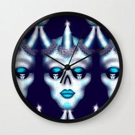 Horned Diva Skull 4 Wall Clock