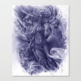 The Fawn (Blue Version) Canvas Print
