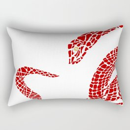 Red  big snake Rectangular Pillow