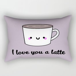I Love You A Latte Rectangular Pillow