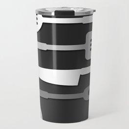 Kitchen Utensil Silhouettes Monochrome II Travel Mug