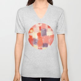 City Sunset Geometric Abstract Painting Unisex V-Neck