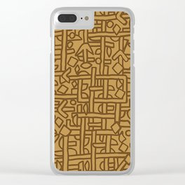 Ornament ethnic Clear iPhone Case