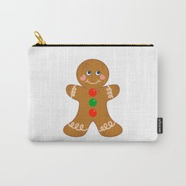 Holiday Gingerbread Man Christmas Cookie Baking Love Carry-All Pouch