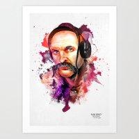 paramore Art Prints featuring Cossack Ivan Sirko listen music by Sitchko Igor