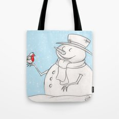 Twigs the Snowman Tote Bag