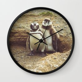 Penguin with chick Wall Clock
