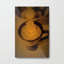 A Fancy Cuppa DPPA150510a Metal Print