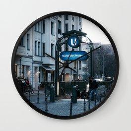 Subway 2 Wall Clock