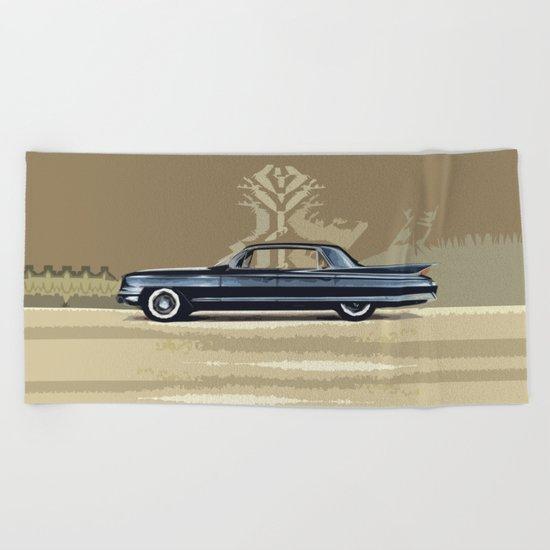1961 Cadillac Fleetwood Sixty-Special Beach Towel