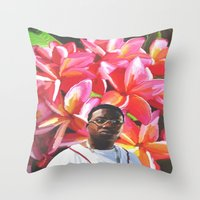 gucci Throw Pillows featuring gucci mane floral by Cree.8