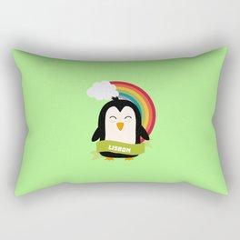Penguin Rainbow from Lisbon T-Shirt for all Ages Rectangular Pillow