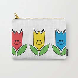 Flowers Of Primary Colors - Fleurs Aux Couleurs Primaires Carry-All Pouch