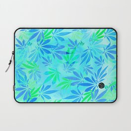 Blue Mint Cannabis Swirl Laptop Sleeve