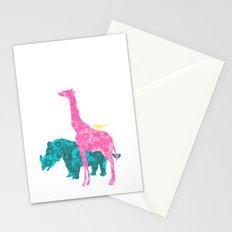 Pink Giraffe Stationery Cards