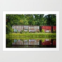 Boxcar Reflection Art Print