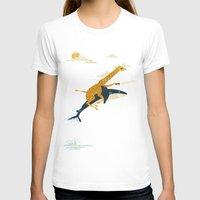 animals T-shirts featuring Onward! by Jay Fleck