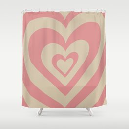 Love Power - soft pink Shower Curtain